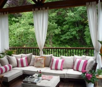 #Outdoor #Curtains — The Affordable Solution To Creating Your Own #Backyard Retreat