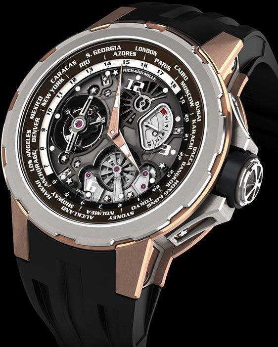 Richard Mille 58-01 Tourbillon World Timer Jean Todt Limited Edition mensbestkeptsecrets.com