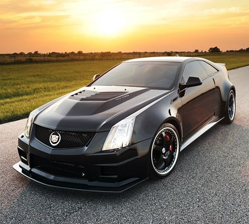 Hennessey Performance CTS-V VR1200 Twin Turbo - His latest work is a 1,226 hp CTS-V Coupe. If youre counting, that is 26 more horsepower than the W16-based Bugatti Super Sport. The CTS-V has been upgraded with the companys VR1200 Twin Turbo kit which is a version of the 7-liter V8 found in their flagship Venom GT. That kind of power delivers 1,109 lb-ft of torque, a quarter mile time of 10.2 seconds, and a 0-60 time of 2.9 seconds.    www.wheelhero.com