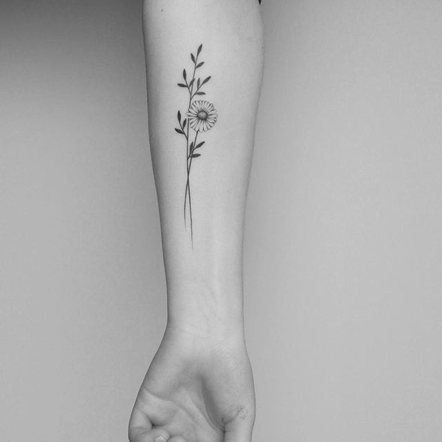 tattoo inspiration | inkspo | ink | sunflower | flower | small | girly