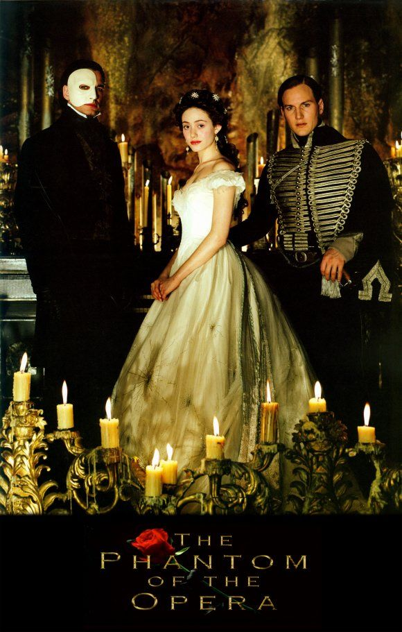 The Phantom, Raoul, and Christine. Cast Picture.