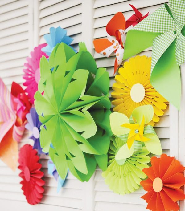 I love how bright and colorful this party theme is. Also, I love the decorate your own party hat idea.