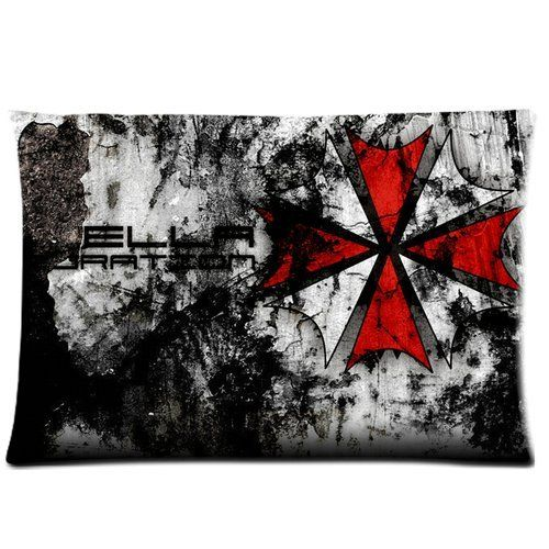 Personalized Custom Soft Rectangle Zippered Pillow Case Cover 20X30 (Twin Sides) - Hot Science Fiction Adventure Film Resident Evil Logo Red and White Umbrella Pttern Vintage Retro Design Pillow Case >>> Don't get left behind, see this great product offer  : Decorative Pillows