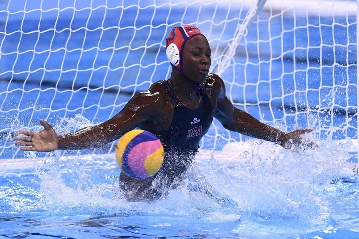 Ashleigh Johnson, US women's national water polo goalkeeper. Fell in love with her at the Rio Olympic games, in the finals against Italy (which the US won). I shouldn't even be cheering for her, but the woman is a GODESS