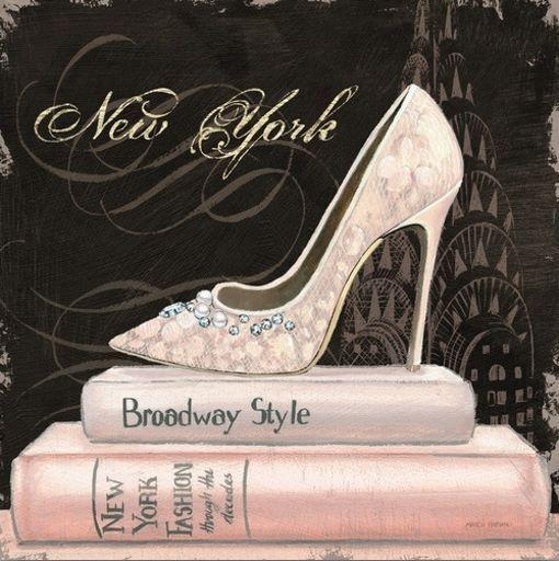 Marco Fabiano: City Style Square II Keilrahmen-Bild Leinwand Mode Fashion Heels