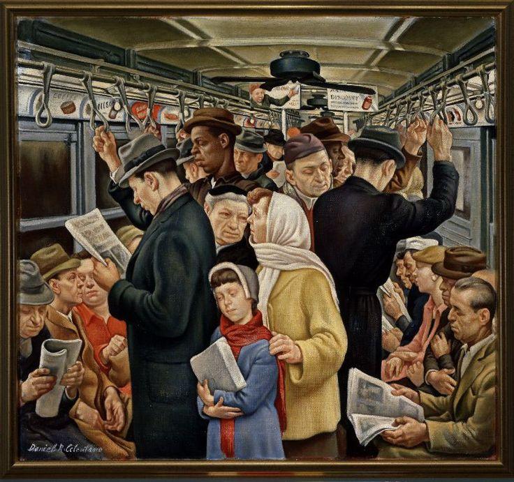 Subway / Daniel Ralph Celentano / circa 1935 / oil on canvas / Wolfsonian FIU