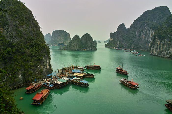 View of Ha Long Bay from Ti Top Mountain, Vietnam