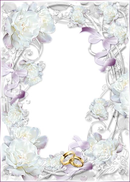 Delicate Transparent Wedding Photo Frame