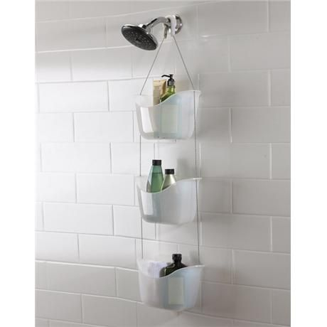 This Is A Great New Umbra Bathroom Hanging Shower Tidy/Caddy It Includes 3  Adjustable Polypropylene Baskets Suspended With Stainless Steel Ball Chains  And ...
