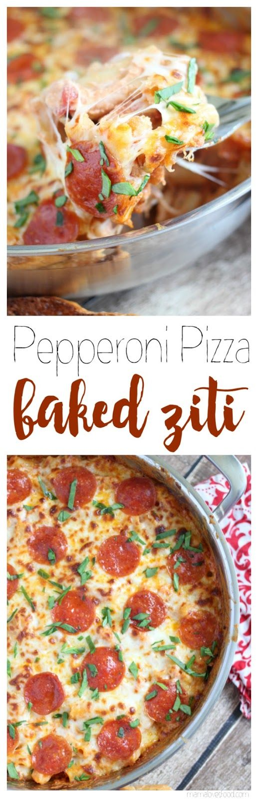Pepperoni Pizza Baked Ziti - ONE POT MAGIC!  my kids call this surprise pizza and they LOVE it :-D  #GameForBasketball #ad