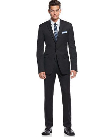 Bar III Suit Separates, Charcoal Solid Extra Slim Fit