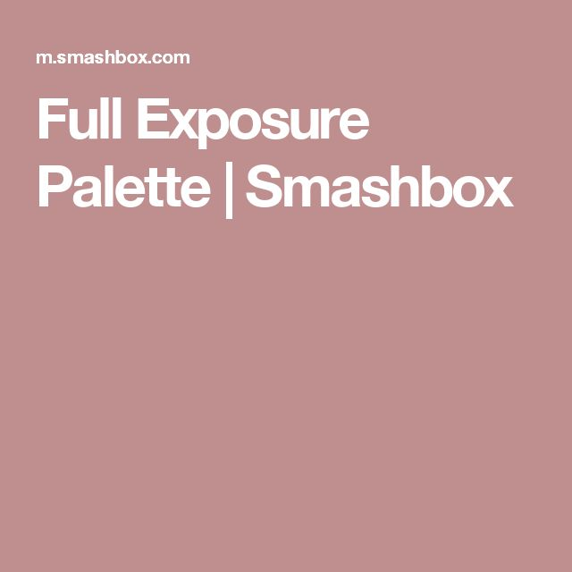 Full Exposure Palette | Smashbox