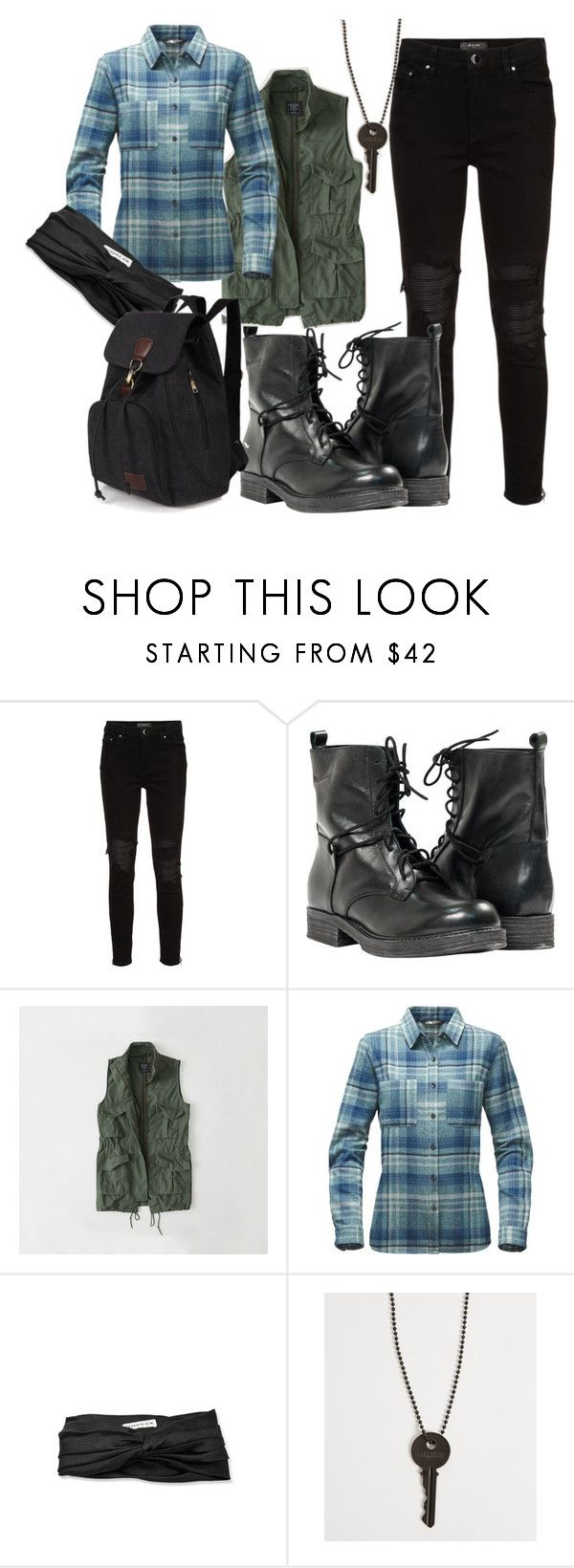 """Les-be-amazing"" by trinity-faith ❤ liked on Polyvore featuring AMIRI, Paolo Shoes, Abercrombie & Fitch, The North Face, Eugenia Kim and The Giving Keys"