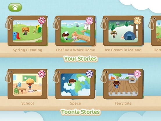 Read your own creations or check out Toonia stories for some inspiration.