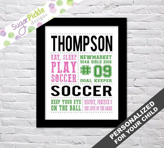 Soccer Art for girls, Soccer Subway art, Soccer Print, Soccer Stats Art, Soccer Wall Art, Soccer printables, Team Gift, Personalized,