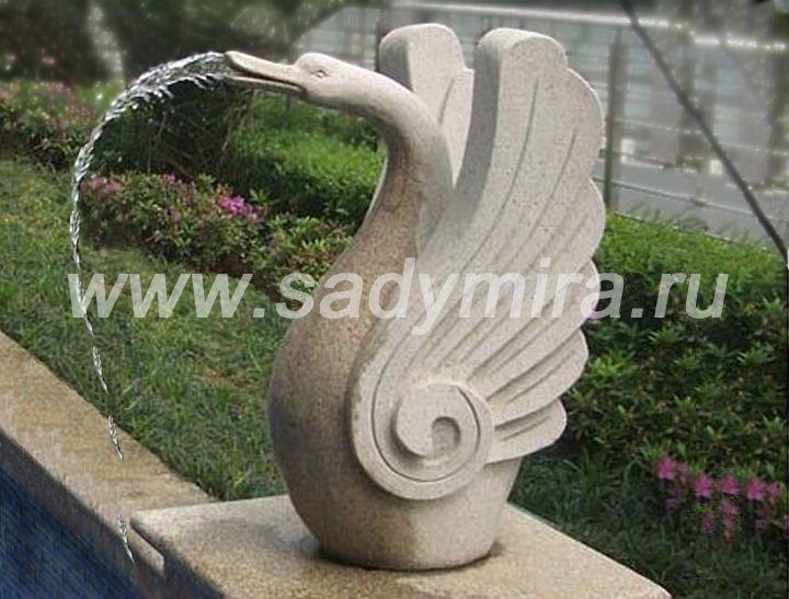 Скульптурные фонтаны в виде Лебедей - продажа в Москве, Петербурге, России