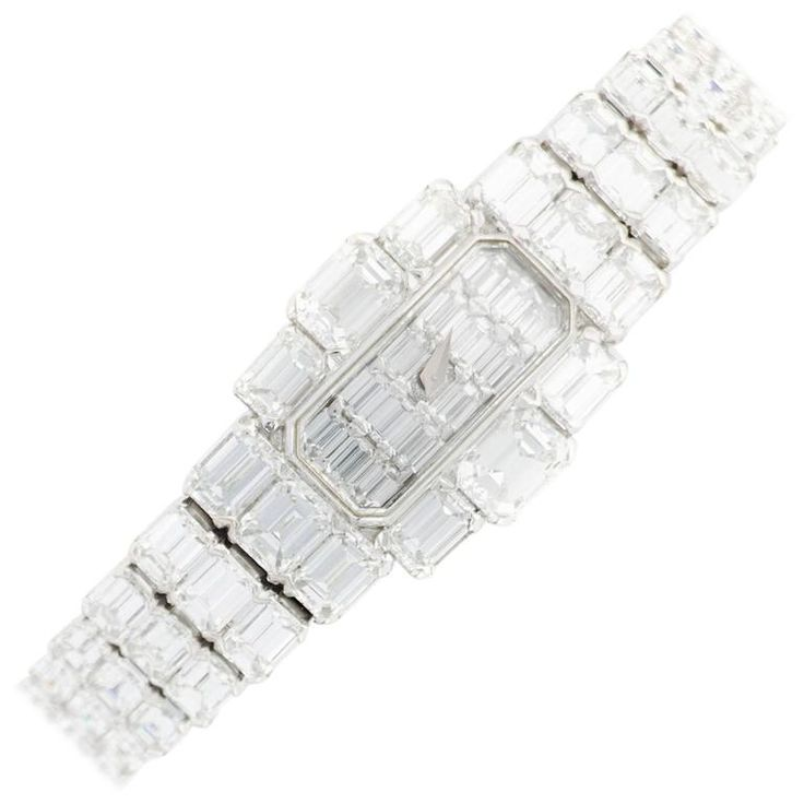 Ladys Vacheron Constantin Lady Kalla Full Diamond Bracelet Wristwatch Ref. 17701 | From a unique collection of vintage wrist watches at https://www.1stdibs.com/jewelry/watches/wrist-watches/