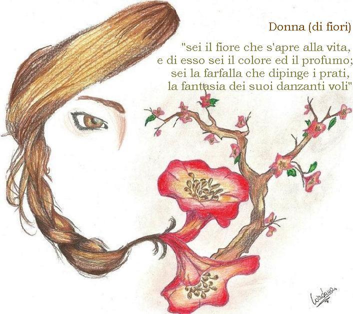 """""""Donna di fiori"""" raffigurata da Loredana Brugali"""