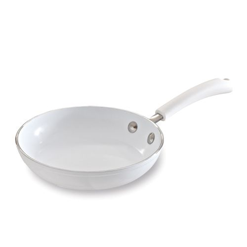 "All White Ceramic Cookware 8"" Sauté Pan - The Pampered Chef® This item is retiring from Pampered Chef's catalog as of August 31st, 2014 - but is only AVAILABLE WHILE SUPPLIES LAST!!! Order yours today at www.pamperedchef.biz/brendaprell"