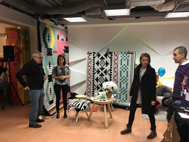Dare tor Rug *Ironic* and *Restless* rugs @ Made in RO Fair - Impact Hub Bucharest  #daretorug #daretodesign #handtuftedrug #tufted #rug #carpet #design #inspiration #interiordesign #romaniandesign