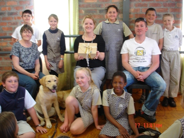 The Grade 4s handed R9 600 to the Guide Dog Association, enabling them to sponsor 3 puppies. Pupils did various chores at home (setting the table, feeding the dog, washing dishes etc.) to earn the money which they donated back to the Association.