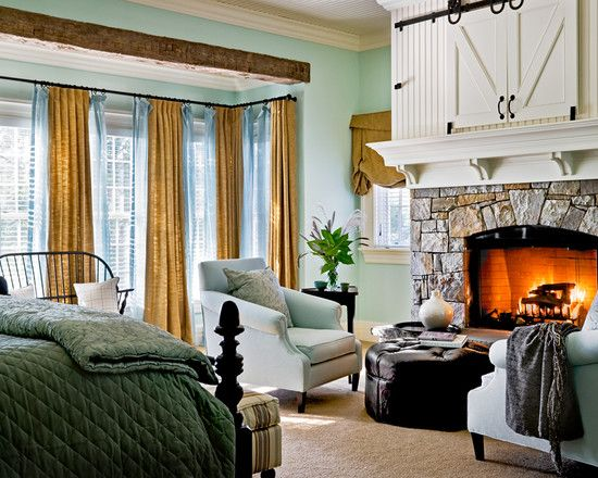 perfect sitting area in the bedroom to enjoy a book