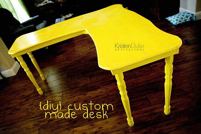Custom Office desk~under 50 dollars #office #desk #diy www.KristenDuke.com