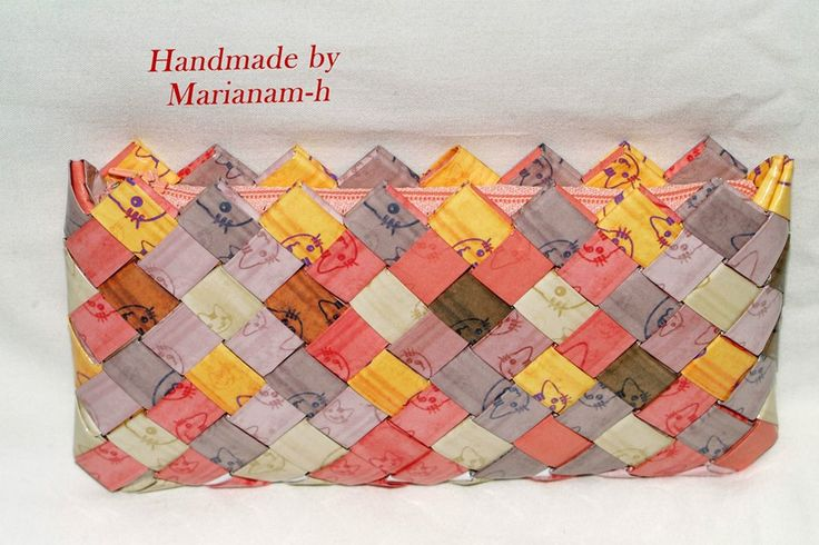 Paper wallet - candy wrapper bag Portmoeu din hartie