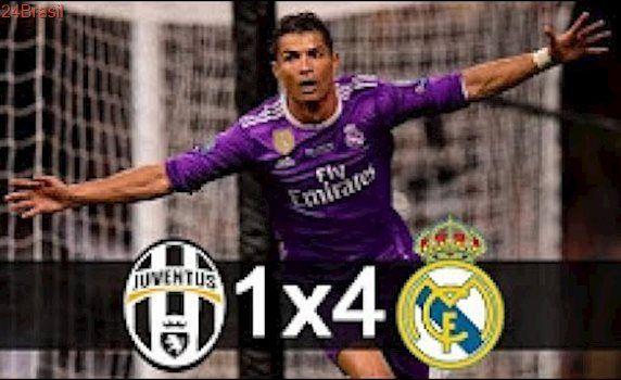 Juventus 1 x 4 Real Madrid - Gols- Final Liga dos Campeões- Real Campeão - 03/06/2017