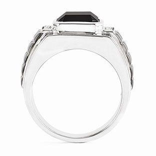Black And Diamond Ring