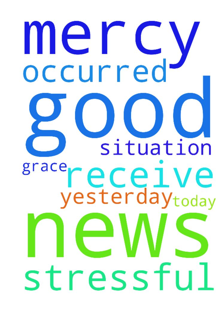 Prayer for good news -  Father I pray that I receive good news today in a stressful situation that occurred yesterday. I thank you Father for your grace and mercy. Amen  Posted at: https://prayerrequest.com/t/DGe #pray #prayer #request #prayerrequest