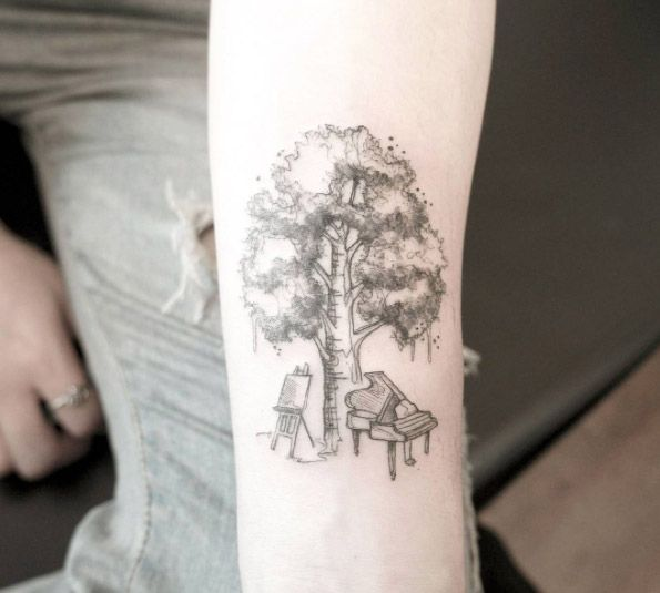 121 best images about tree tattoos on pinterest trees a tree and tree of life tattoos. Black Bedroom Furniture Sets. Home Design Ideas