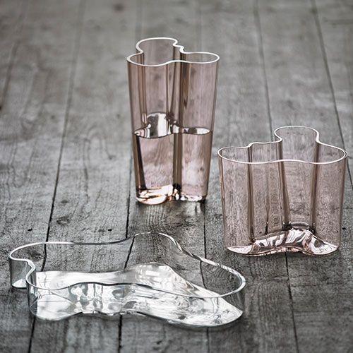 iittala Aalto Finlandia Salmon Pink Vases