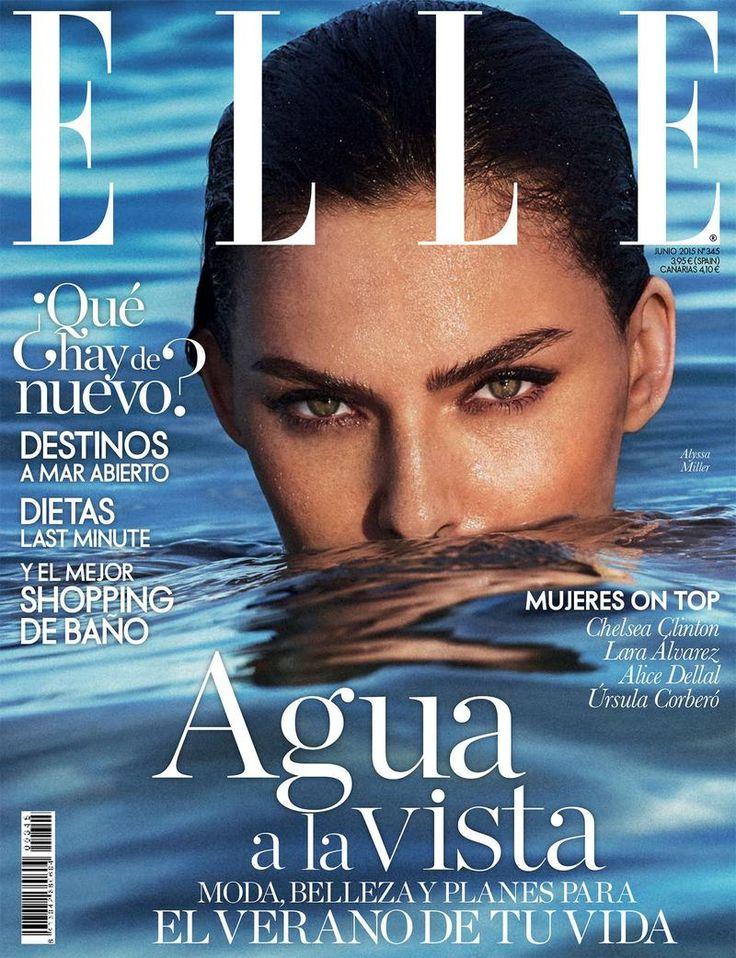 #AlyssaMiller lands Elle Spain June 2015 cover lensed by #XaviGordo