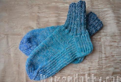 Мастер-класс Вязание носков с уплотненной стопой
