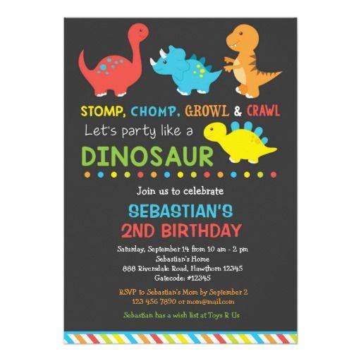 25+ best ideas about Dinosaur Invitations on Pinterest | Dinosaur birthday invitations, Dinosaur ...