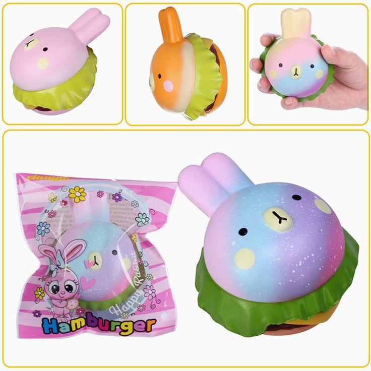 Vlampo Squishy Rabbit Hamburger Bunny Slow Rising Original Packaging Burger Collection Gift Decor