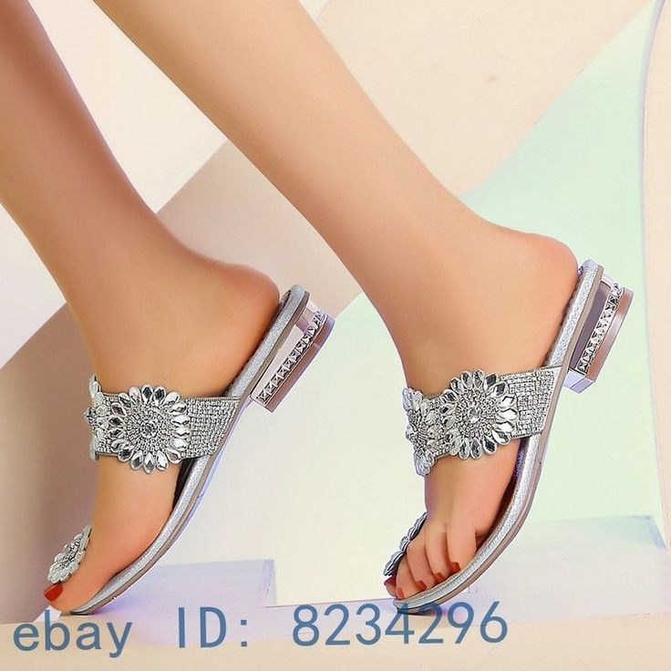 Blingbling Women Slipper Flip Flops Luxury Rhinestone Sandals Shoes Party