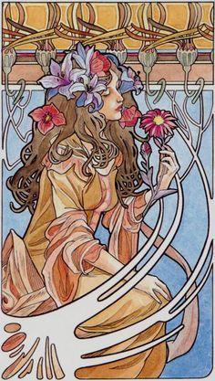 III - L'impératrice - Tarot art nouveau par Antonella Castelli