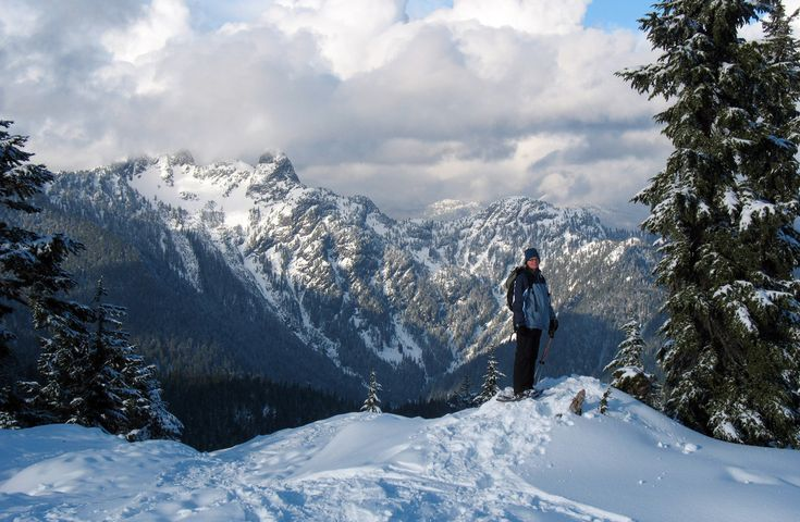 туризм Британская Колумбия, Hollyburn Mountain, зимний хайкинг Ванкувер