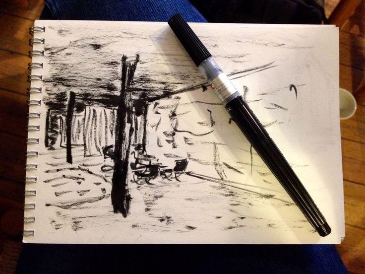 Ink pen  By: Mischa Stæhr