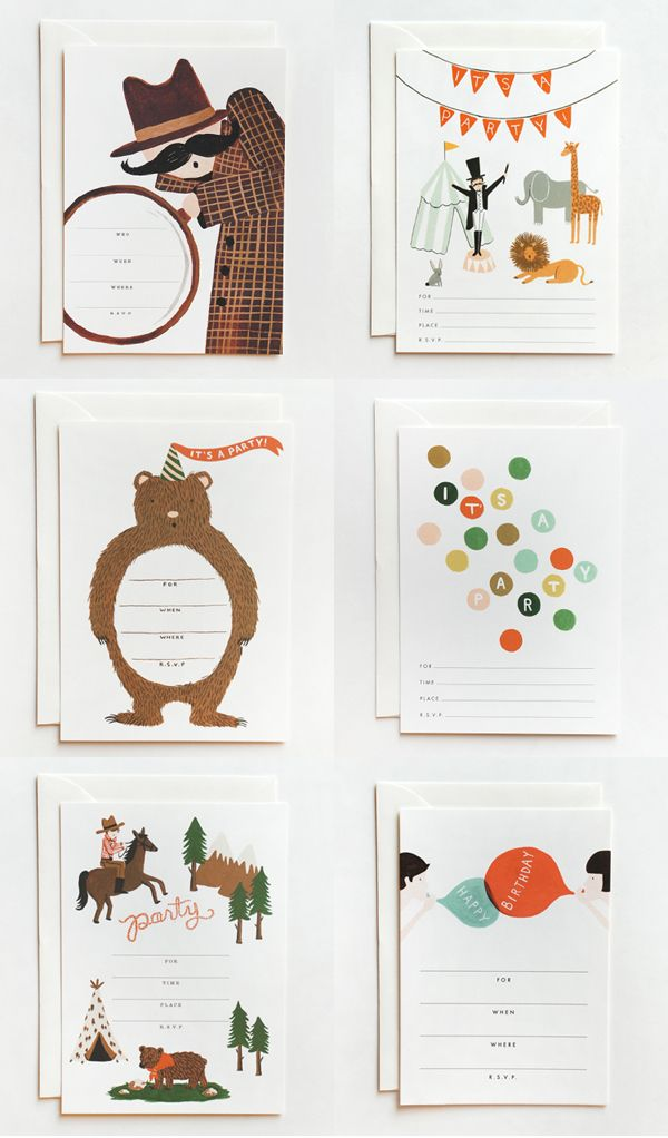 Rifle Paper Co. Illustrated Children's Party Invitations