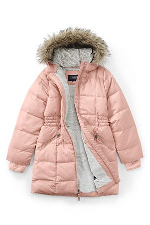 721d12d20771 Girls  Thermoplume Fleece Lined Coat