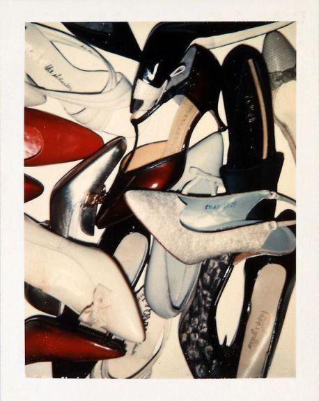 Shoe still life polaroid by Andy Warhol.