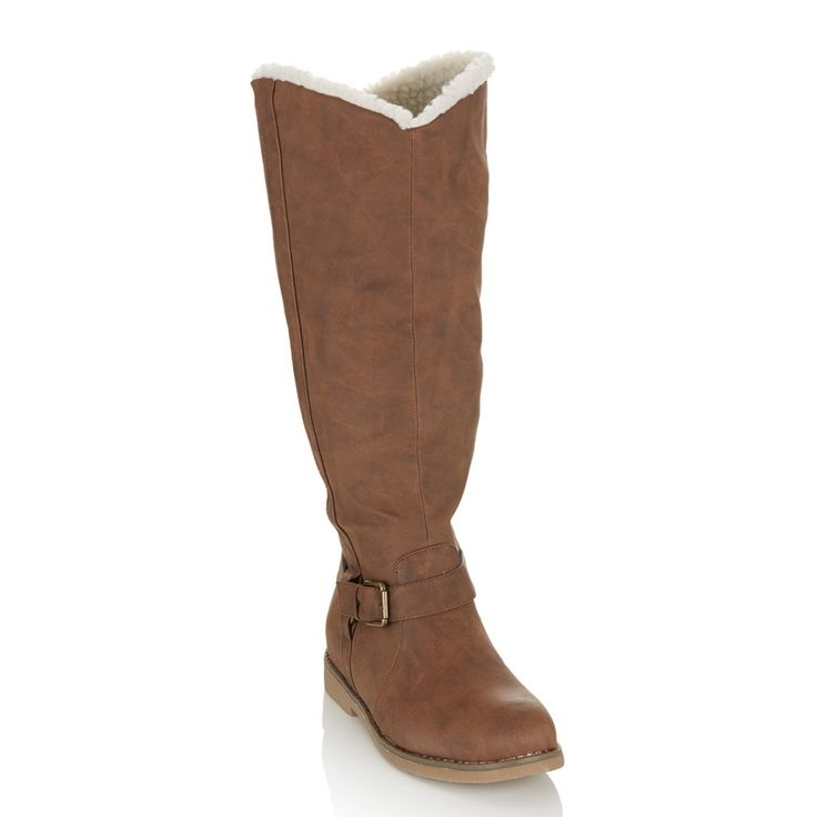Long Buckle Boots Brown