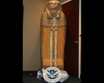 """""""Dealer Mousa Khouli has pleaded guilty to the charge of """"smuggling ancient Egyptian treasures"""" and for """"making a false statement to law enforcement authorities"""" (""""Dealer admits smuggling Egyptian treasures to US"""", Agence France Presse April 18, 2012). Khouli could be facing up to 20 years in prison."""""""