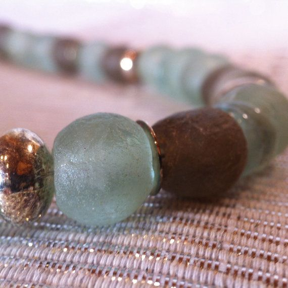 African Glass necklace by monuandmonu on Etsy