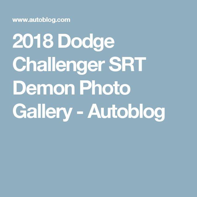 2018 Dodge Challenger SRT Demon Photo Gallery - Autoblog