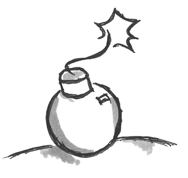 A pictogram for risk. Ein Symbol für Risiko, Gefahr oder Knackpunkt. Zum Beispiel um Reizwörter in einem Kommunikationstraining zu kennzeichnen.
