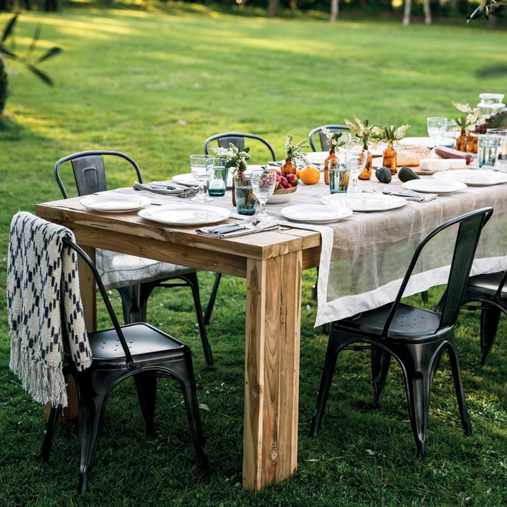 Toulon Recycled Table 3000 With 6 Saxon Chairs Package - Packages - Outdoor Early Settler